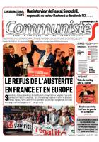 Journal CommunisteS n° 553 - 16 avril 2014