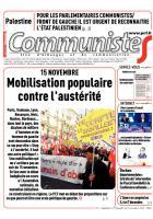 Journal CommunisteS n° 574 - 19 novembre 2014
