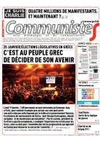 Journal CommunisteS n° 580 - 21 janvier 2015