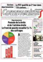 Journal CommunisteS n° 589 - 25 mars 2015