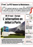 Journal CommunisteS n° 597 - 27 mai 2015