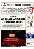 Journal CommunisteS n°609 du 7 octobre 2015