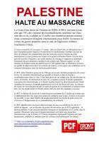 TRACT - Palestine halte au massacre
