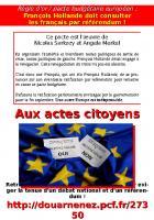 Règle d'or / pacte budgétaire européen : François Hollande doit consulter les français par référendum !